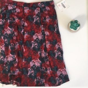 LuLaRoe | Madison skirt w pockets w color print